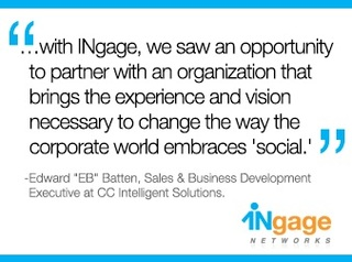 INgage Networks Leverages Implementation Excellence of CC Intelligent Solutions in  Newly Formed Partnership