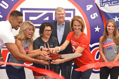 Orthopedic surgeon, Dr. Stacie Grossfeld, celebrated the grand opening of F45 Crestwood in Louisville, Kentucky alongside personal trainers and co-owners Kim Postema and Melissa Goodlett.
