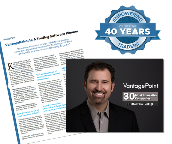 Lane Mendelsohn, President of Vantagepoint AI, and company recognized by CIO Bulletin
