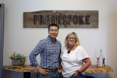 Photo: FreshSpoke Co-founders Henry Quach, CTO, Marcia Woods, CEO