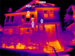 Thermal image showing open storm windows (can be used with home energy audit / assessment)