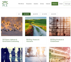 PCE Releases Q3 2019 M&A results