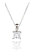 18ct White Gold, 0.25ct Princess Cut Diamond Pendant - £799.00