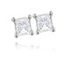 18ct White Gold, 0.33ct Princess Cut Diamond Stud Earrings - £899.00