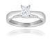 18ct White Gold, 0.40ct Princess Cut Diamond Engagement Ring - £1,699.00