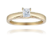 18ct Yellow Gold, 0.30ct Princess Cut Diamond Engagement Ring - £1,399.00