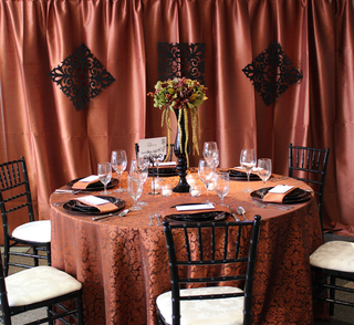 Beautiful autumn wedding table decor from Special Event Rentals.
