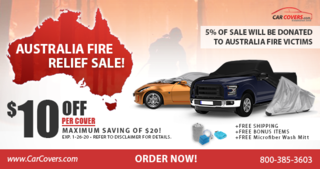 CarCovers.com Is Donating 5% Of All Sales Revenue To Help The Australia Bush Fire Victims - Jan 20th - Jan 26th