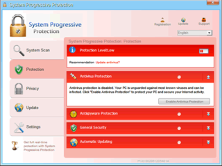 System Progressive Protection Pretends to Remove Malware and Trick PC Users