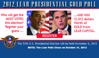 Lear Capital's Live Presidential Poll Enters the Final Forty Days for an Election Winner and a Gold Giveaway