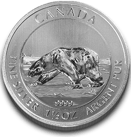 The 1.5 Ounce Silver Polar Bear Coin