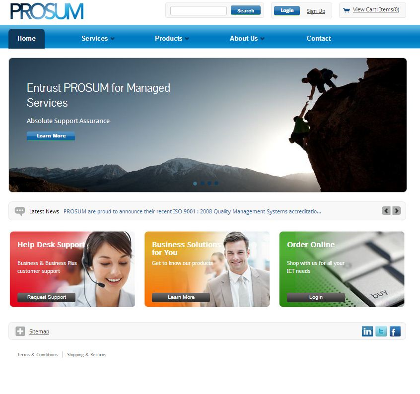 Prosum Website
