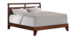 Dominique Cal King Wood Platform Bed - Dark Walnut