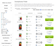 Smart Phone search engine - 27coupons.com