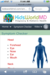 The KidsWorld Interactive Symptom Checker navigates naturally by touching the problem area.