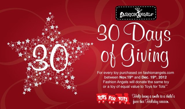 Fashion Angels' 30 Days fo Giving