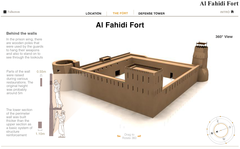 The online infographic of Al Fahidi Fort was published as part of a cross-media campaign linked to a limited-edition coffee-table book.
