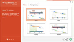 Office Timeline 2012 Free: New Timeline Wizard