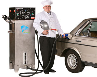 The BioPro™ 190EX will make 50 gallons of premium-grade biodiesel from 50 gallons of used cooking oil in 23 hours.