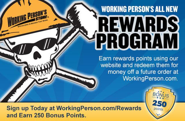 Working Person's Store Rewards Program<br />