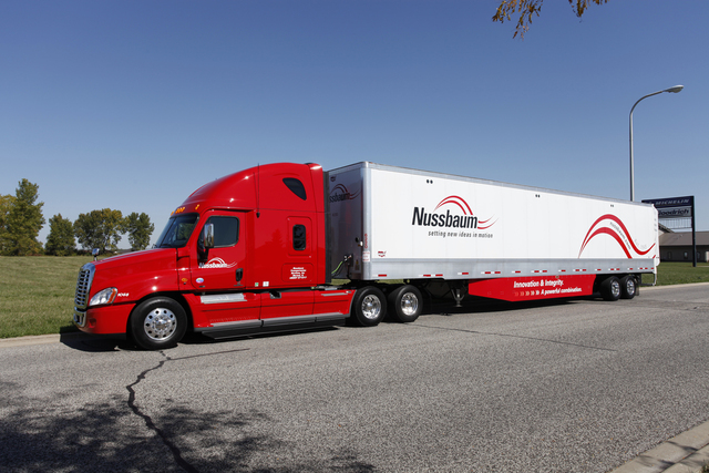 Nussbaum's fleet features custom specifications to maximize fuel efficiency, including skirts and tails on all trailers.