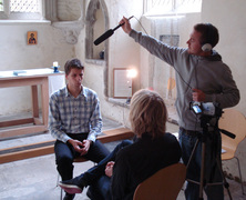 German learner Clemens Muckle during interview in Cambridge, UK with Daniel Emmerson and Joel Carr