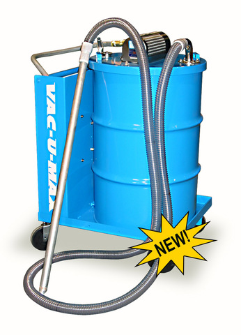 VAC-U-MAX industrial sump vacuum cleaner system for metalworking.