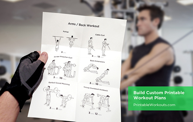 A workout routine from Printable Workouts