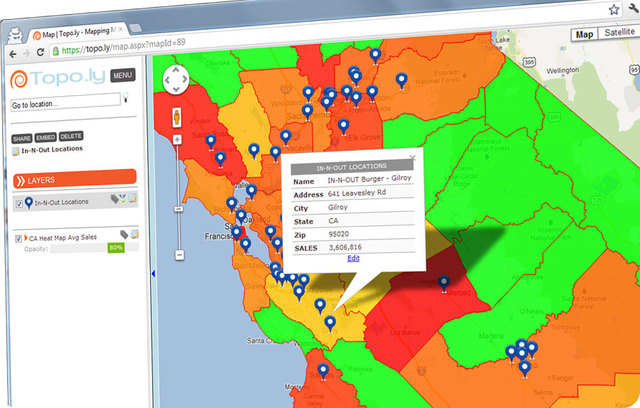 Heat mapping is excellent visualization to help organizations derive insights for business planning.