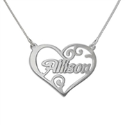 Heart Shape Personalized Name Necklace
