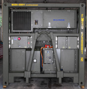 Frontview of a Military Refrigerated A-Frame Container system from Klinge Corp.