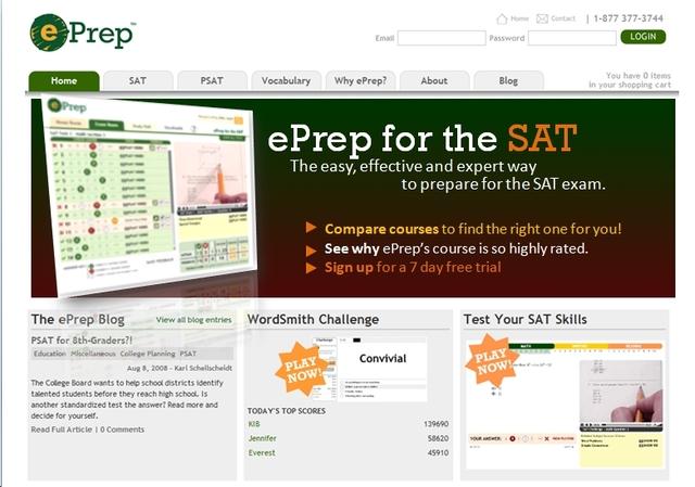 ePrep.com Online Video SAT and ACT Test Preparation