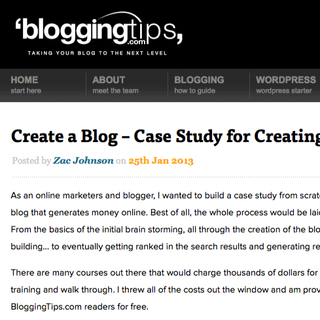 "BloggingTips.com Releases ""Create a Blog"" Case Study for 2013"
