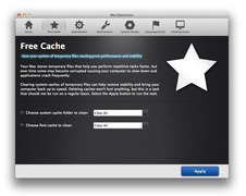 MacOptimizer Clean System and Font Caches