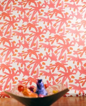 Juju Pink & Silver Wallpaper by AphroChic