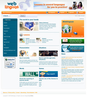 Weblinguas Web Portal offers a free tool for language learning