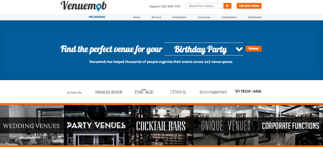 Venuemob- function venues in Melbourne.