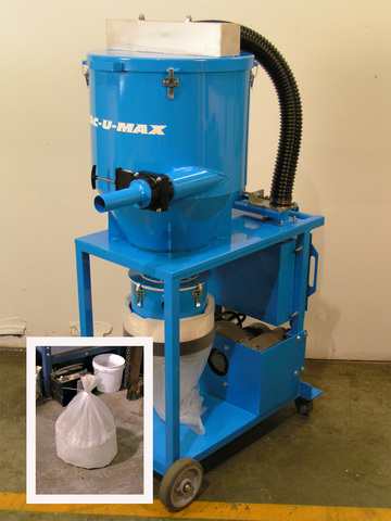 VAC-U-MAX is the only manufacturer with a continuous bagging air-powered combustible dust vacuum cleaner.