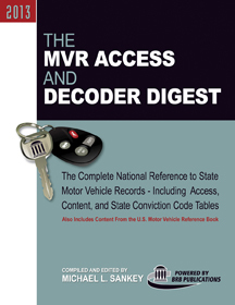 BRB Publications announces new combined 2013 MVR Access and Decoder Digest, lower price