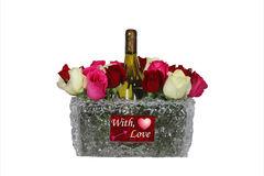 Centerpiece flowers and wine ideas