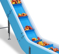 Removable Retaining Walls on DynaClean Food Processing Conveyors Reduce Cleaning Time