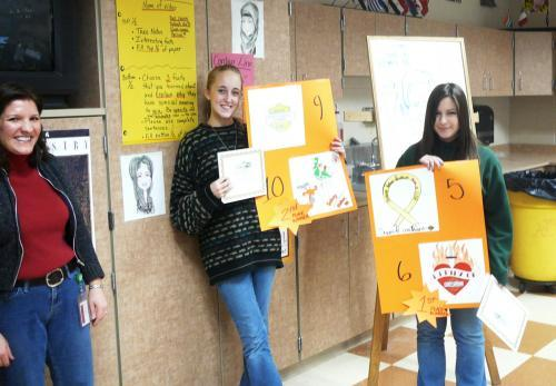 Century Harley-Davidson drawing contest winners: 1st Place:  Rachel Brown, 2nd Place:  Kelsey McIntyre