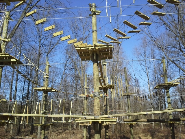 """Irresistible fun for five to 10 year olds: The new """"Labyrinth"""" at The Adventure Park at Sandy Spring, Maryland."""