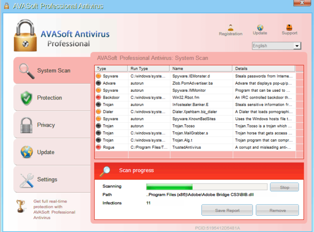 AVASoft Antivirus Professional is a fake antivirus program that no PC user should install.