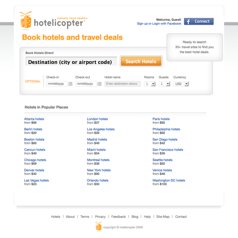 hotelicopter home page