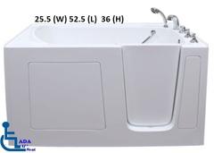 2653 Gel Coat Walk in Tub Model For Small Spaces