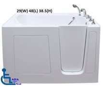3048 Gel Coat Walk in Tub Model for Narrow Spaces