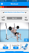 the truTrainer workout screen is super simple and features detailed descriptions with 3D videos to show proper form.