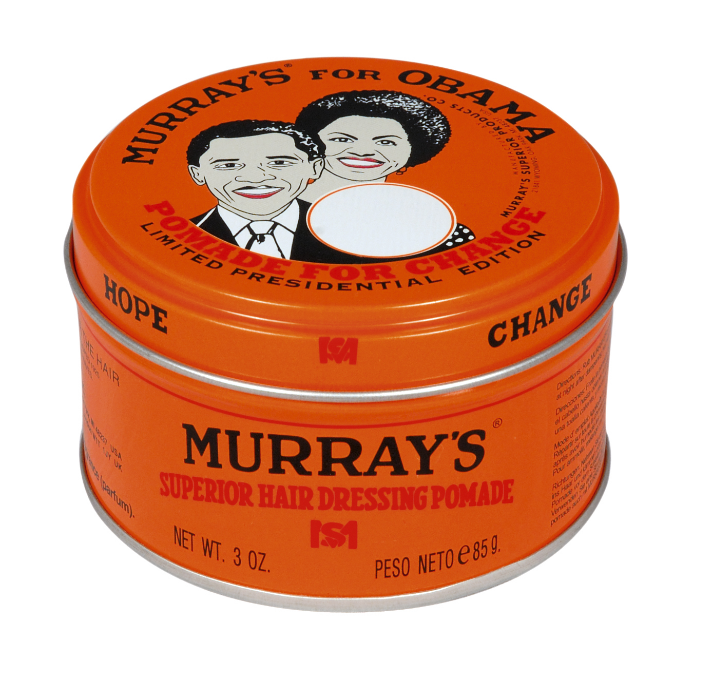 Murrays For Obama Available At Murrays4changecom 1 From Each Tin Murray Nunile Pomade Goes To A Charity That Will Be Chosen By The Community