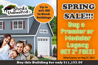 Amish Sheds Builder in Pennsylvania Announces Spring Sale